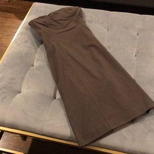Theory Chocolate Brown Strapless Dress 0 XS